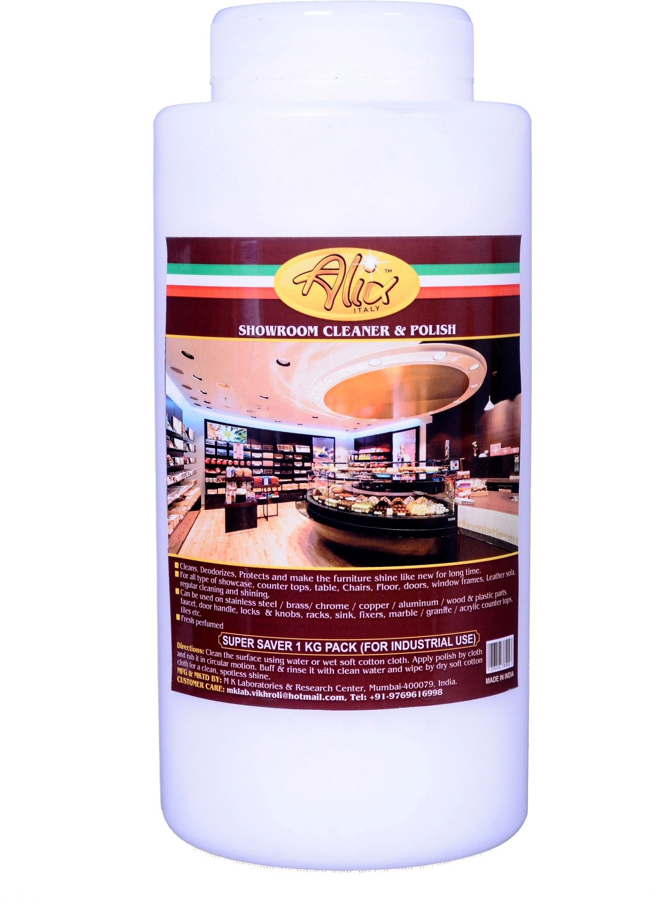ALIX Showroom Cleaner & Polish Liquid Detergent