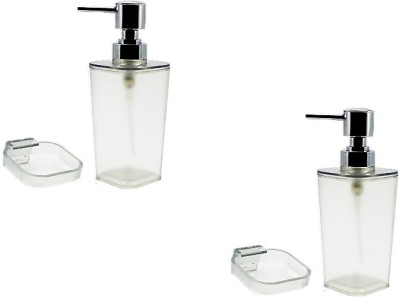 royaL indian craft Super Clear(Pack of 2) 250 ml Soap, Lotion Dispenser