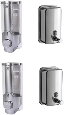 FLICKER STEEL+PLASTIC LIQUID SOAP DISPENSErR 400 ml Soap Dispenser