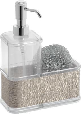Interdesign Twillo Plastic Soap Pump Caddy 350 ml Soap Dispenser(Silver)