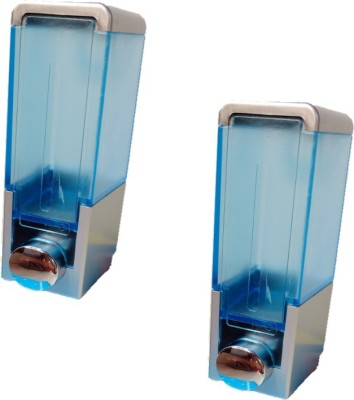 royaL indian craft (Pack of 2)Sea Blue 250 ml Soap, Lotion, Shampoo Dispenser