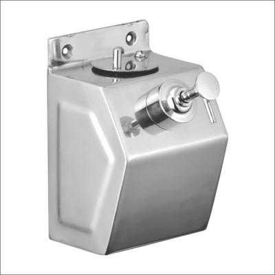 Kamal Stainless Steel Soap Dispenser - Matrix 400 ml Soap Dispenser(Silver)