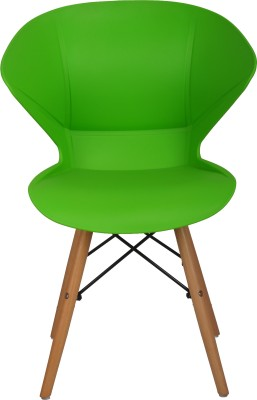 Bharat Furniture Frog Plastic Living Room Chair(Finish Color - Green)