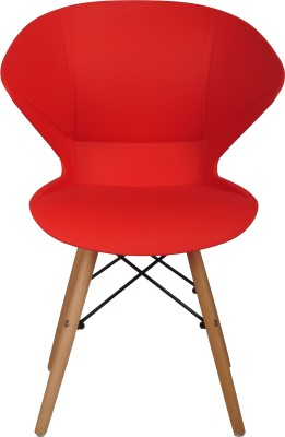 Bharat Furniture Frog Plastic Living Room Chair(Finish Color - Red)