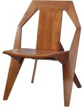 Shilpam Solid Wood Living Room Chair (Fi...