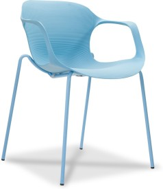 Durian ZANE-BLUE Synthetic Fiber Living Room Chair(Finish Color - Herone Blue)