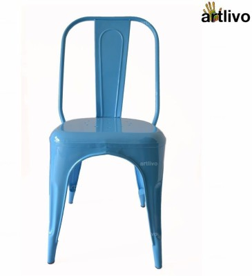 Artlivo Artlivo Blue French Style Bistro Chair Metal Living Room Chair(Finish Color - Blue)
