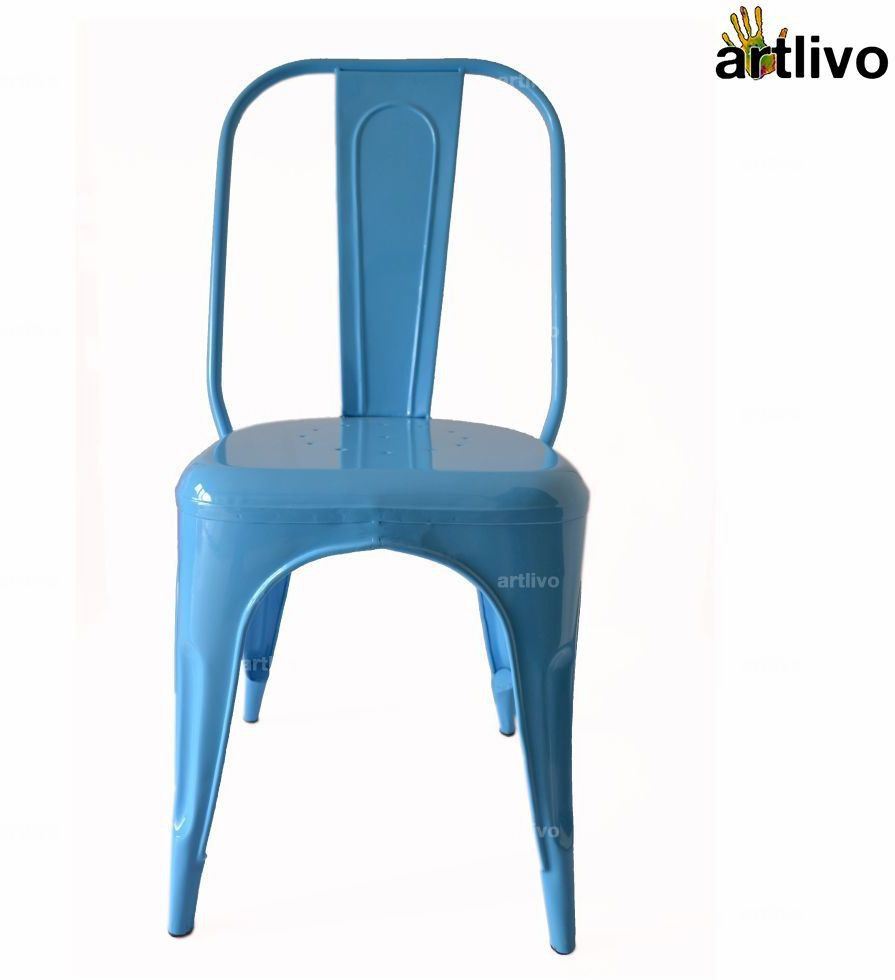 View Artlivo Artlivo Blue French Style Bistro Chair Metal Living Room Chair(Finish Color - Blue) Furniture (Artlivo)