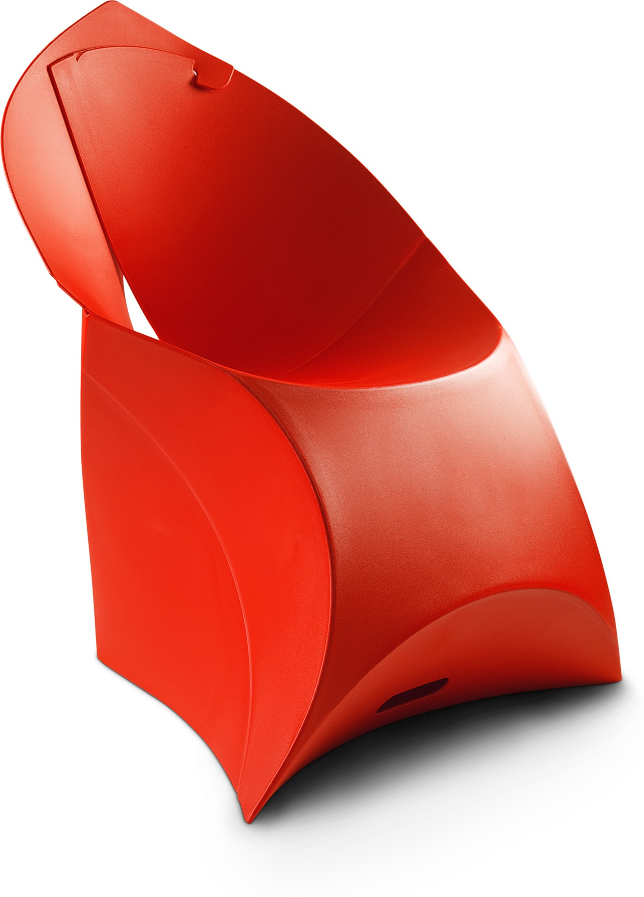 View Flux Plastic Living Room Chair(Finish Color - Classic Red) Furniture (Flux)
