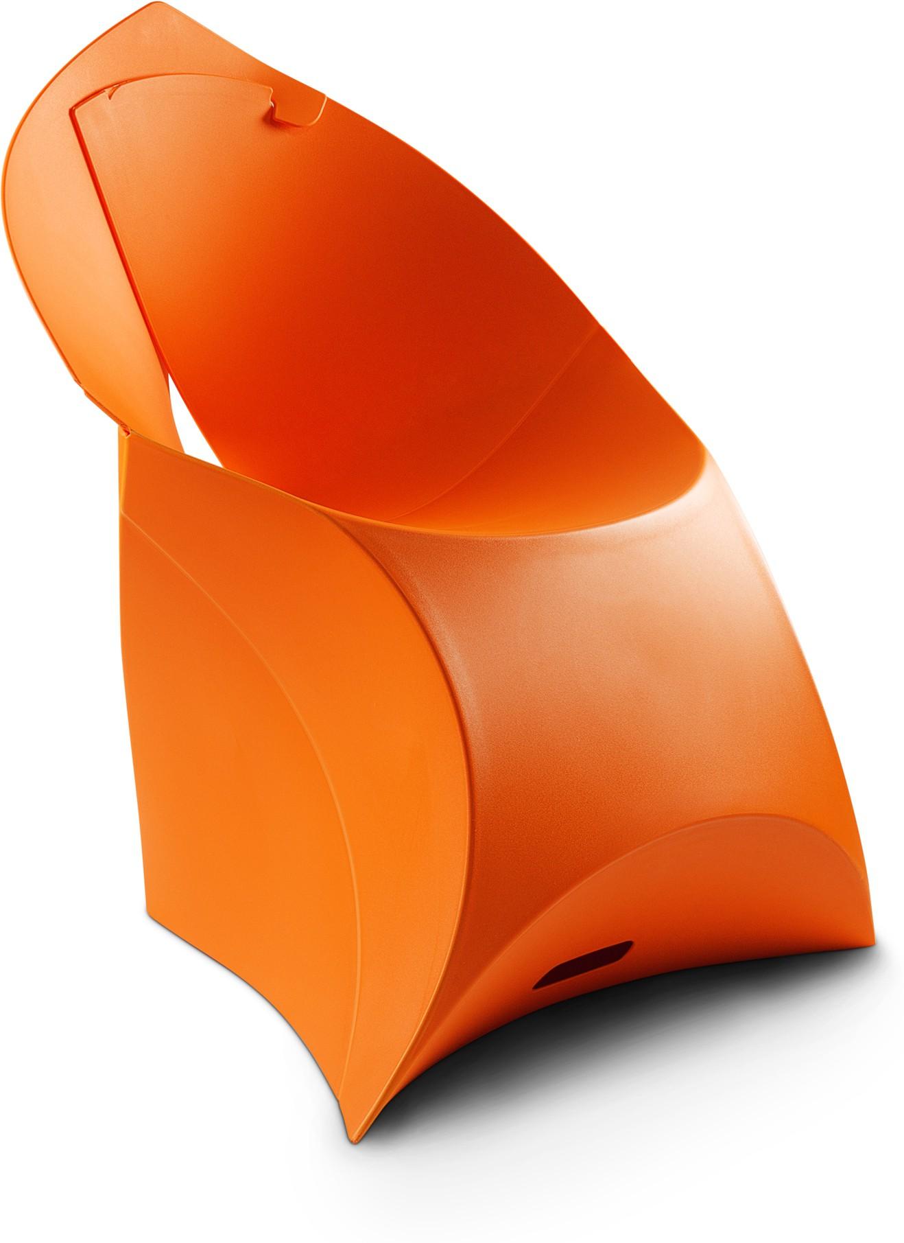 View Flux Plastic Living Room Chair(Finish Color - Bright Orange) Furniture (Flux)