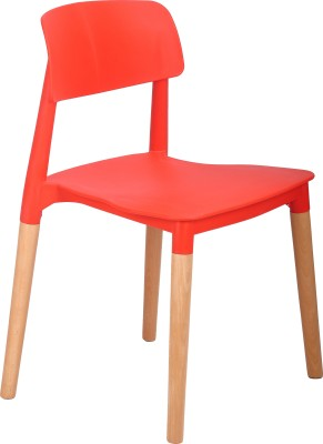 Bharat Furniture Click Plastic Living Room Chair(Finish Color - Red)