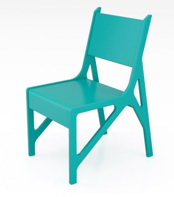 Crosscut Furniture Vivid Chair Turquoise Engineered Wood Living Room Chair
