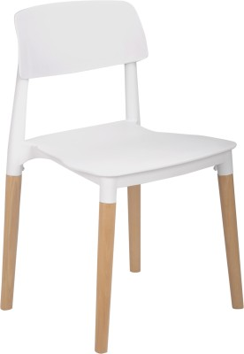 Bharat Furniture Click Plastic Living Room Chair(Finish Color - White)