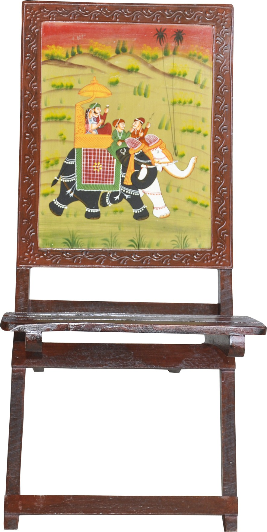 View Lal Haveli Solid Wood Living Room Chair(Finish Color - Brown) Furniture (Lal Haveli)