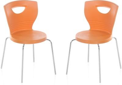 Nilkamal Plastic Living Room Chair(Finish Color - Orange)