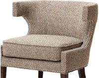 Smarvvv Productions Engineered Wood Living Room Chair(Finish Color - Brown)