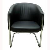 Mavi Leatherette Living Room Chair (Fini...