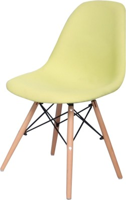 Home&Hearth Replica Eames DSW Side Chair - Upholstered (Green) Plastic Living Room Chair(Finish Color - Lemon green)