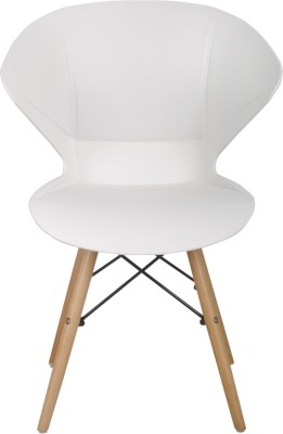 Bharat Furniture Frog Plastic Living Room Chair(Finish Color - White)