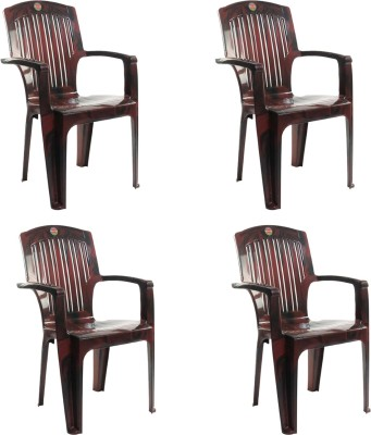 Cello Furniture Plastic Living Room Chair(Finish Color - Rosewood)