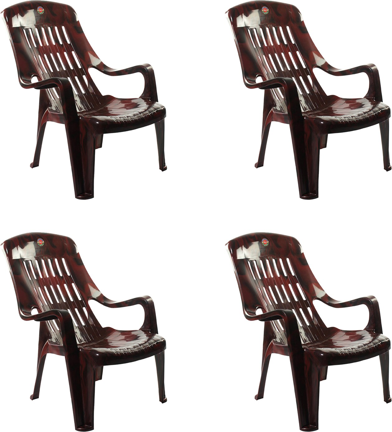 View Cello Furniture Plastic Living Room Chair(Finish Color - Rosewood) Furniture (Cello Furniture)