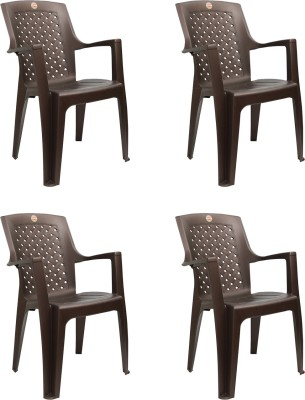 Cello Furniture Plastic Living Room Chair(Finish Color - Ice Brown)