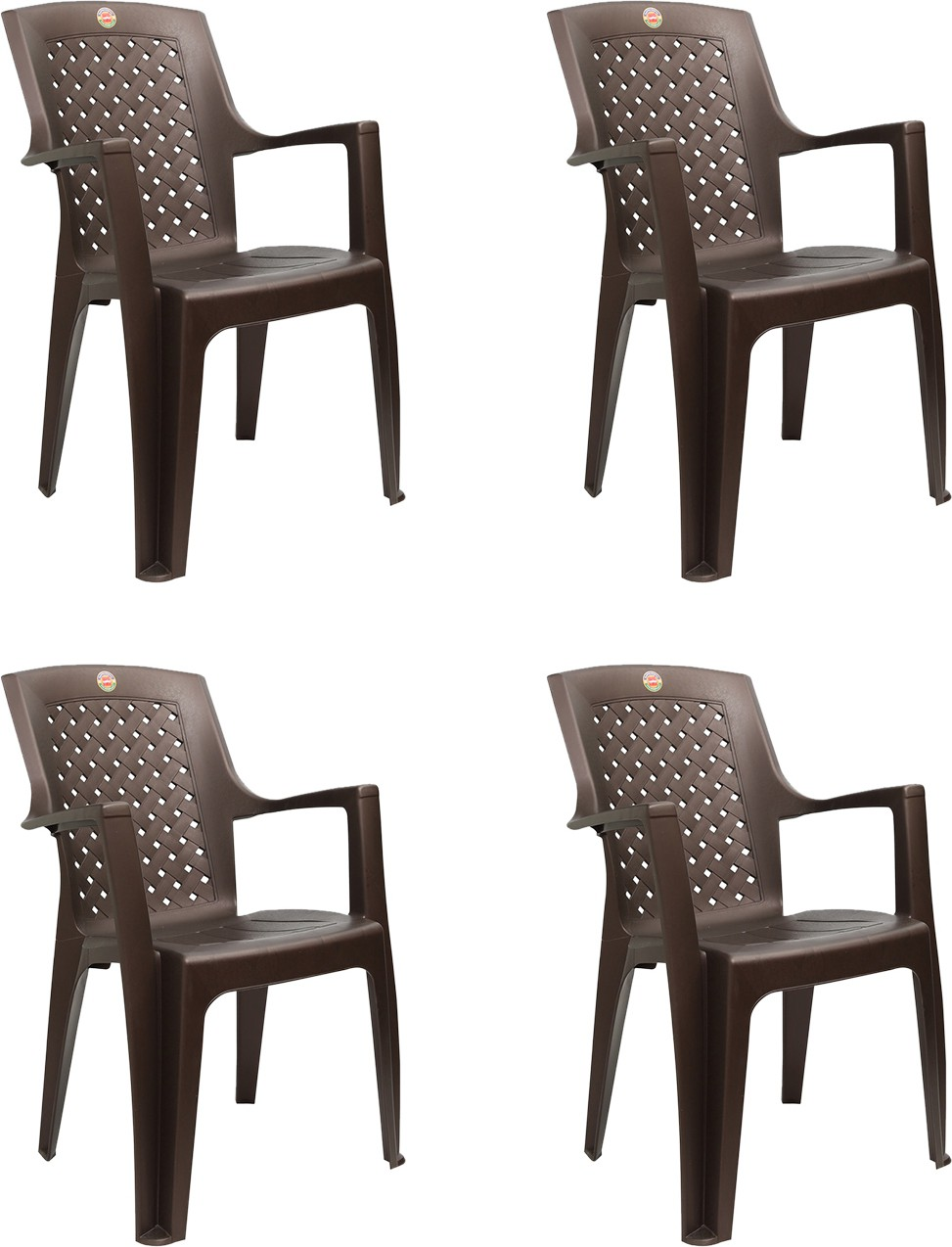 View Cello Furniture Plastic Living Room Chair(Finish Color - Ice Brown) Furniture (Cello Furniture)