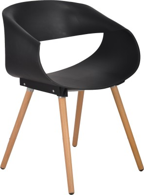 Bharat Furniture Bella Plastic Living Room Chair(Finish Color - Black)