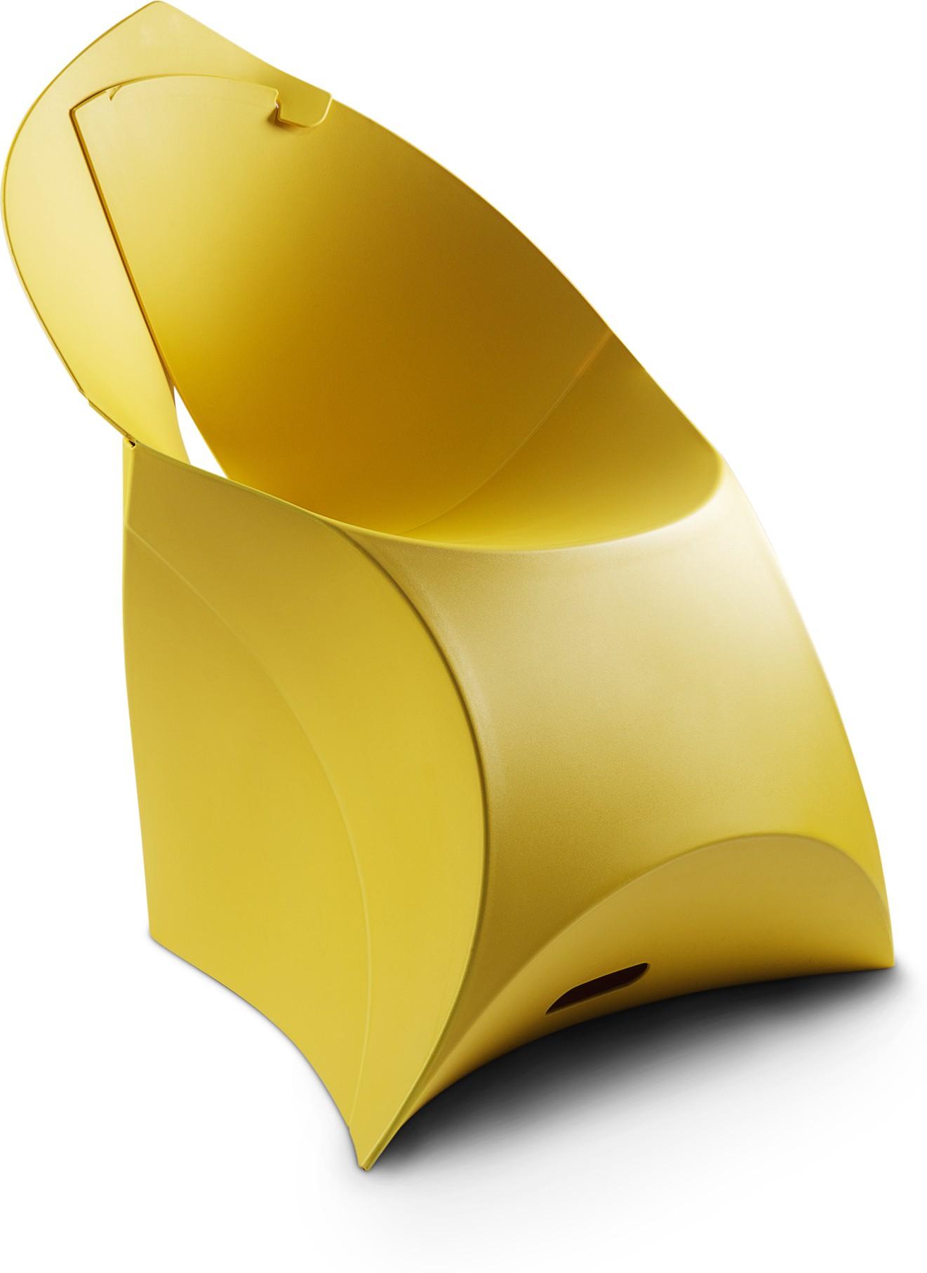 View Flux Plastic Living Room Chair(Finish Color - Lemon Lime) Furniture (Flux)