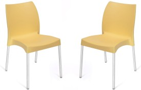 Nilkamal Plastic Living Room Chair(Finish Color - Yellow)