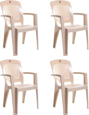 Cello Furniture Plastic Living Room Chair(Finish Color - Beige)