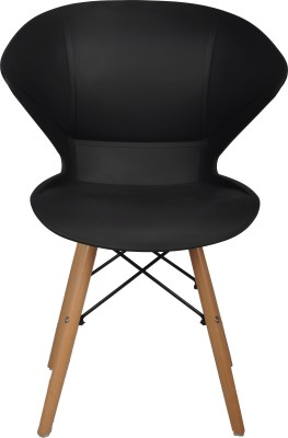 Bharat Furniture Frog Plastic Living Room Chair(Finish Color - Black)