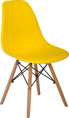 Bharat Furniture Cloud Plastic Living Room Chair(Finish Color - Yellow)