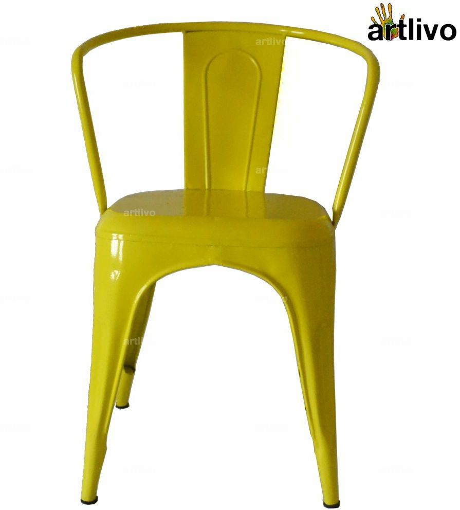 View Artlivo Artlivo Yellow French Style Bistro Arm Chair Metal Living Room Chair(Finish Color - Yellow) Furniture (Artlivo)