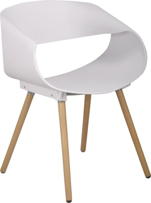 Bharat Furniture Bella Plastic Living Room Chair(Finish Color - White)