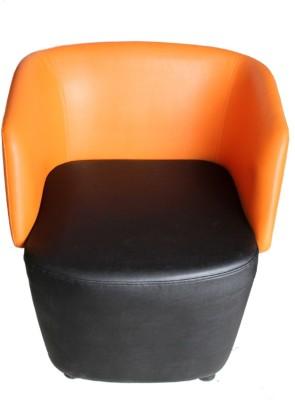 Mavi Leatherette Living Room Chair(Finish Color - Black)