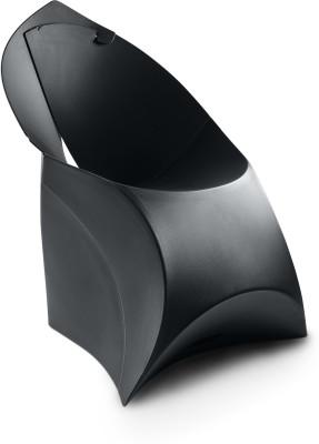 Flux Plastic Living Room Chair(Finish Color - Jet Black)