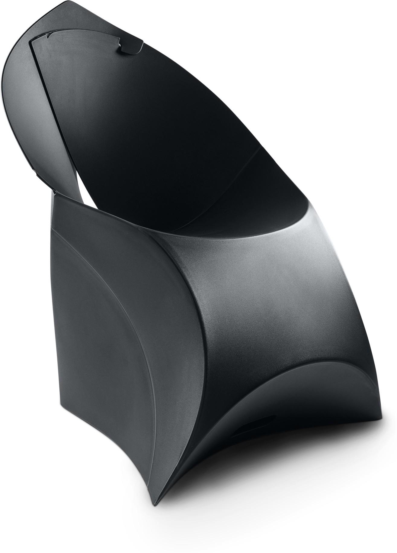 View Flux Plastic Living Room Chair(Finish Color - Jet Black) Furniture (Flux)
