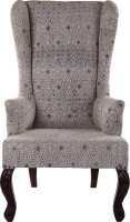 Natural Fibres Export Fabric Living Room Chair(Finish Color - Dark Brown)