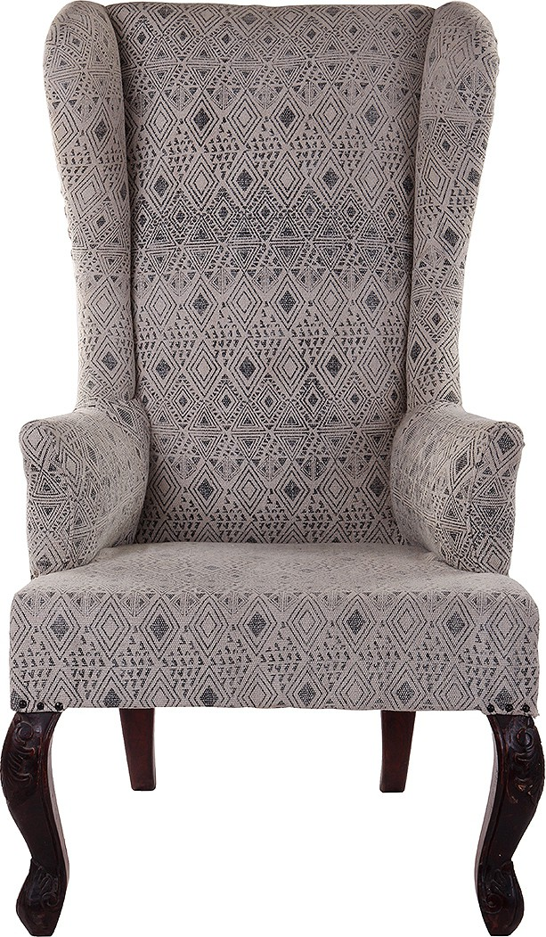 View Natural Fibres Export Fabric Living Room Chair(Finish Color - Dark Brown) Price Online(Natural Fibres Export)