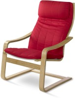 @home by Nilkamal Occasional Solid Wood Living Room Chair(Finish Color - Red)