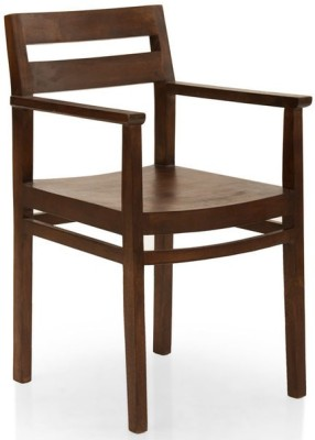 TheArmChair Barcelona Dining Chair (With Arm Rest) Solid Wood Living Room Chair(Finish Color - Walnut)