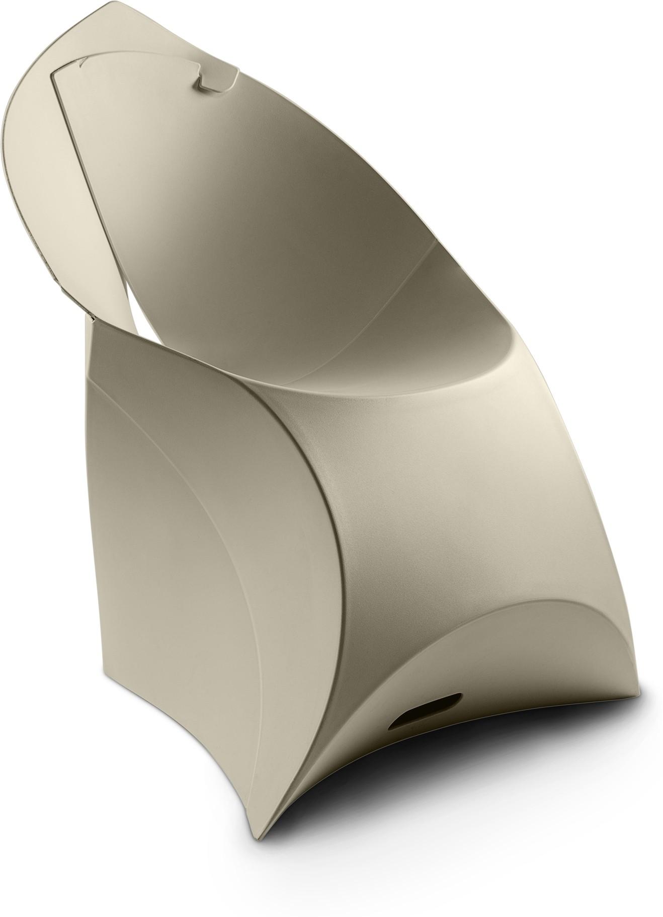 View Flux Plastic Living Room Chair(Finish Color - Pebble Grey) Furniture (Flux)