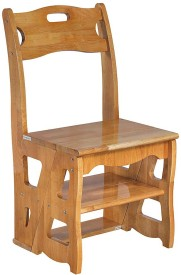 EPL MODULAR Solid Wood Living Room Chair(Finish Color - Natural)