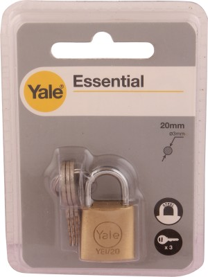 Yale Essential Series Solid Brass 20mm YE1/20/111/1 Padlock