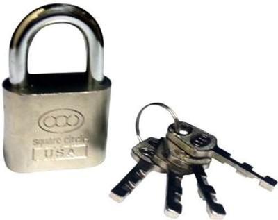 Square Circle 70 Mm With 4 Keys Padlock