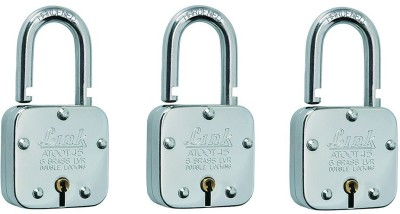 LINK ATOOT SQUARE 45MM PACK OF 3 Padlock(Silver)