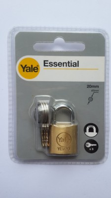 YALE ESSENTIAL SERIES solid brass Padlock
