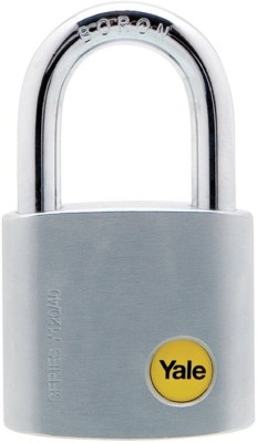 Yale Silver Series Solid Brass 40mm Y120/40/125/1 Boron Steel Shackle Padlock