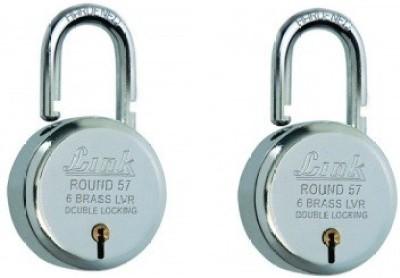 Link Round Bcp 57 (Pack of 2) Padlock